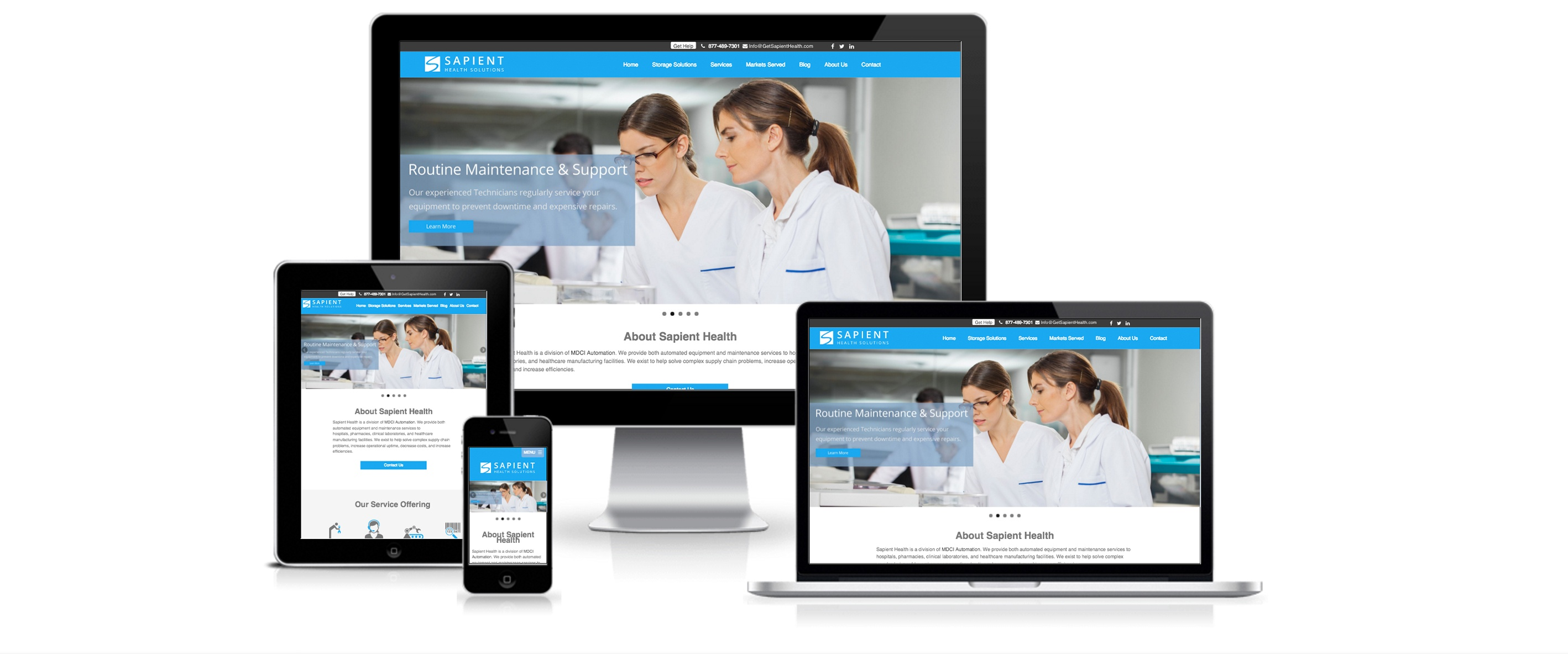 HubSpot Website Design Services for Sapient Health - Created By Spoke